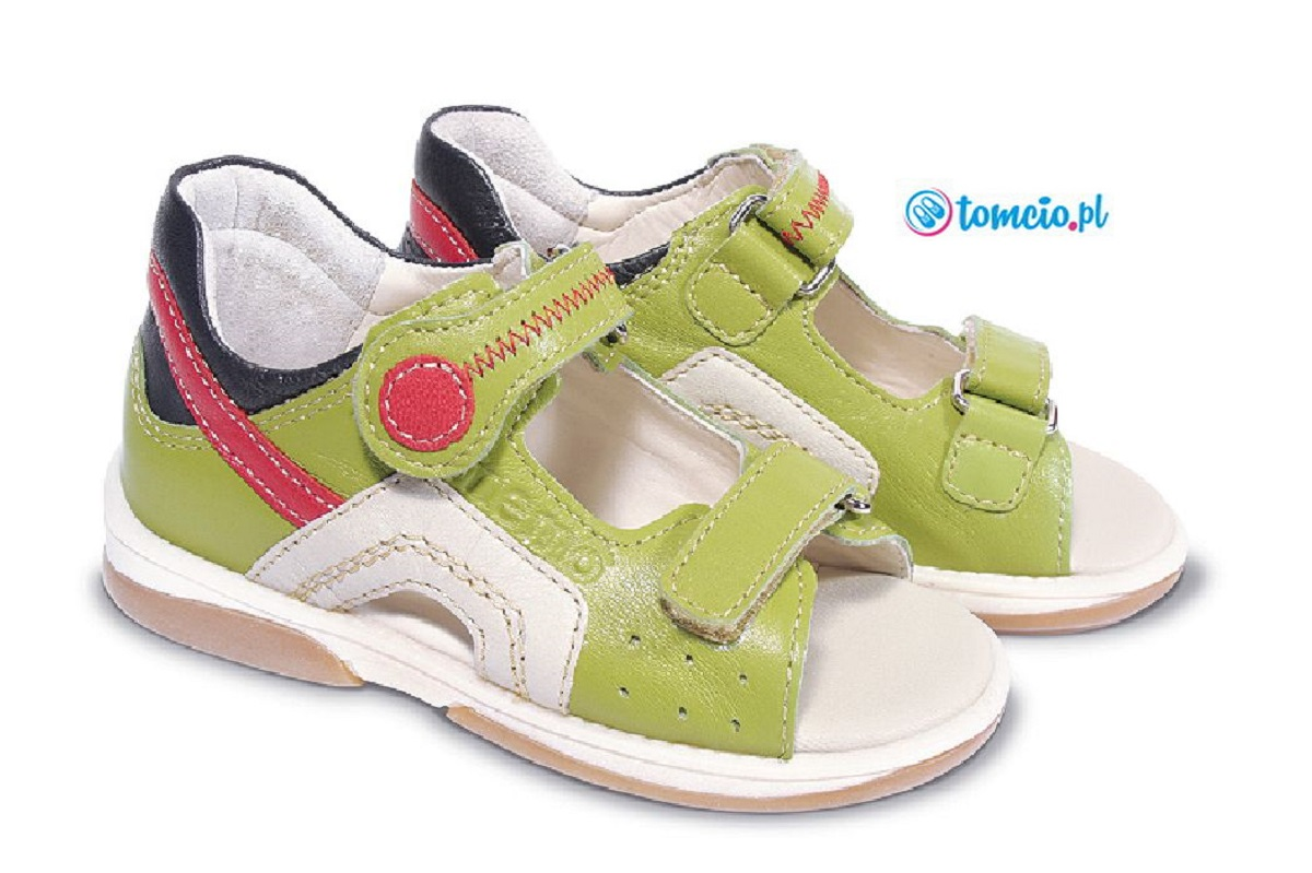 Sandal Profilaktyczne Memo Szafir Zielono Czerwone