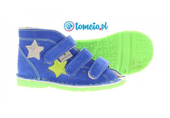 8b08161a5a Kapcie profilaktyczne Danielki kolor blue fluoZ
